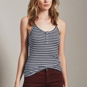 AG Striped Grey Knit Rima Tank Top Size SMALL